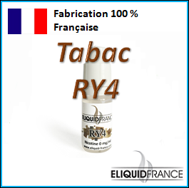 E-Liquide Tabac RY4 ELIQUID FRANCE 100 % Français sur Top Cigarette Electronique