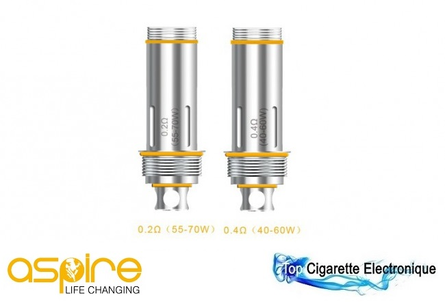 Le clearomizer Cleito d`Aspire dispose d`une résistance en Clapton Coil sur Top Cigarette Electronique