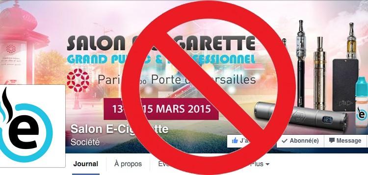 Le salon e cigarette de mars 2015 est annul sur top for Salon cigarette electronique